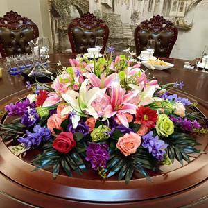 特价大型酒店餐桌花摆件餐桌花艺