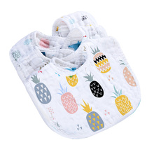 Baby bib, baby bib, baby bib, baby pure cotton yarn, cloth, saliva towel, anti spitting bib, bib, autumn and winter