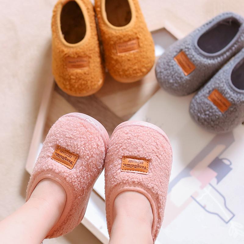 宝宝家居鞋小童棉拖鞋包跟男冬女童拖鞋婴幼儿童幼儿园室内鞋棉鞋