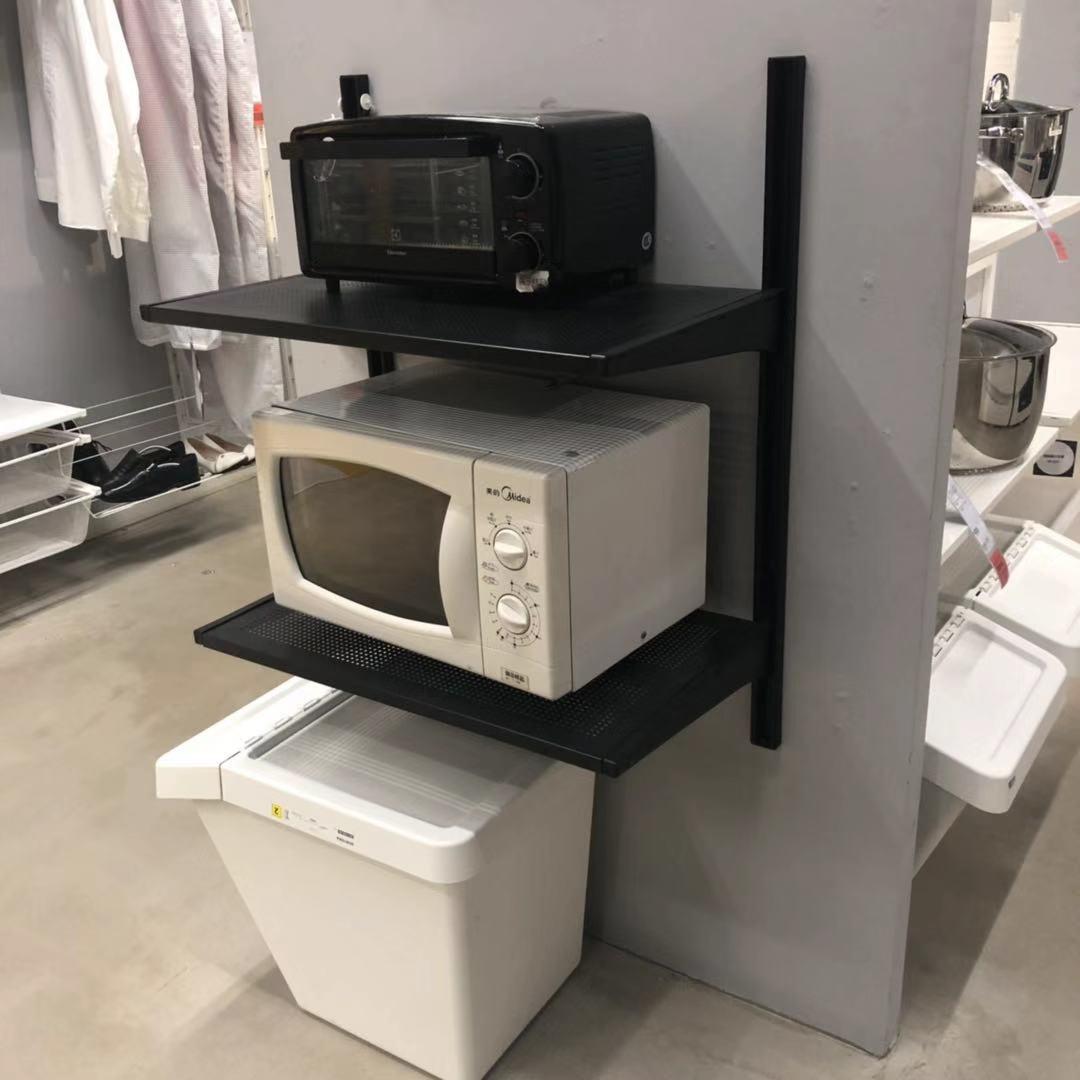 宜家国内代购艾格特厨房电器收纳架厨房置物柜厨房收纳零食收纳架
