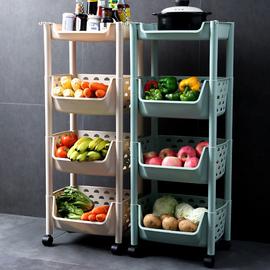 厨房置物架落地多层藤储放蔬菜篮子各种收纳神器家居用品家用大全
