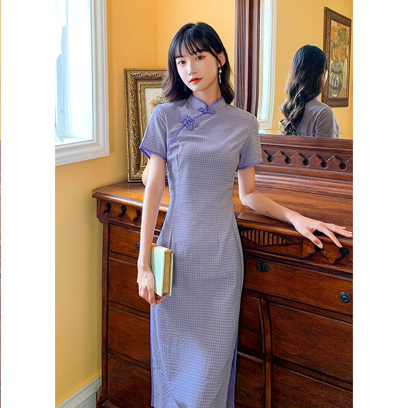 改良版少女旗袍年轻款复古连衣裙