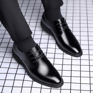 男士 男结婚休闲内增高真皮正装 商务皮鞋 巴图腾夏季 透气新郎男鞋 子