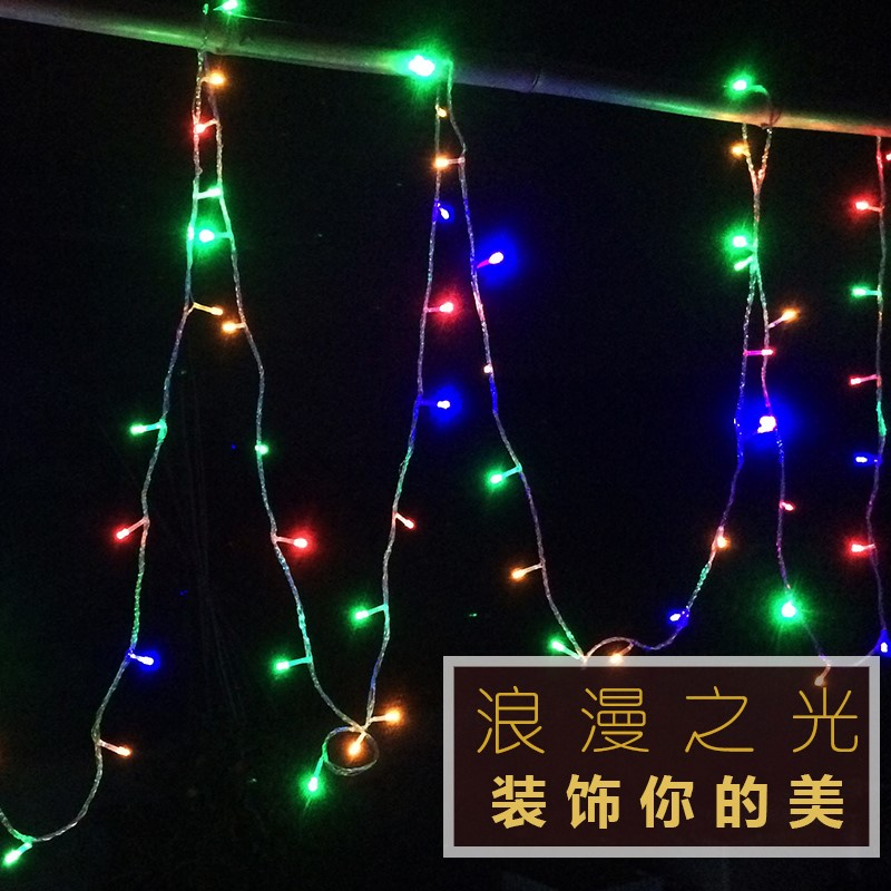 Decorative colorful lights with stars, neon lights, waterproof LED lights, outdoor hanging trees, flashing, outdoor color changing