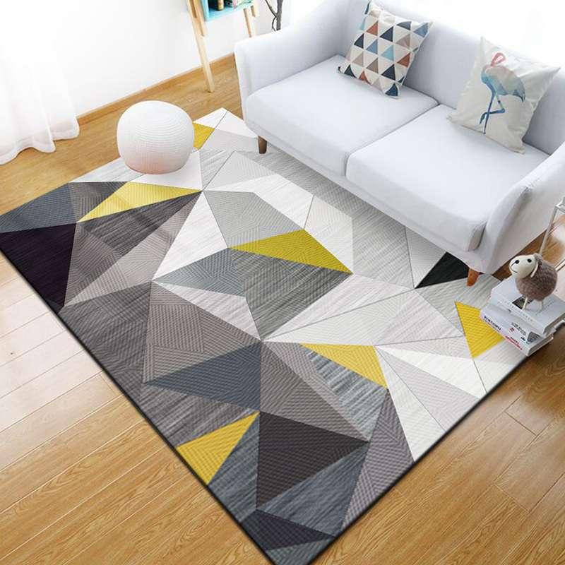 新款地毯客厅现代简约家用沙发茶几地毯几何北欧长方形美式定制可