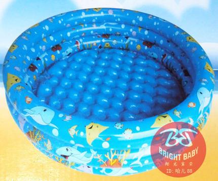 迪士尼玩具三环水池圆形方形充气游泳池150cm充气浴池钓鱼水池子10-30新券