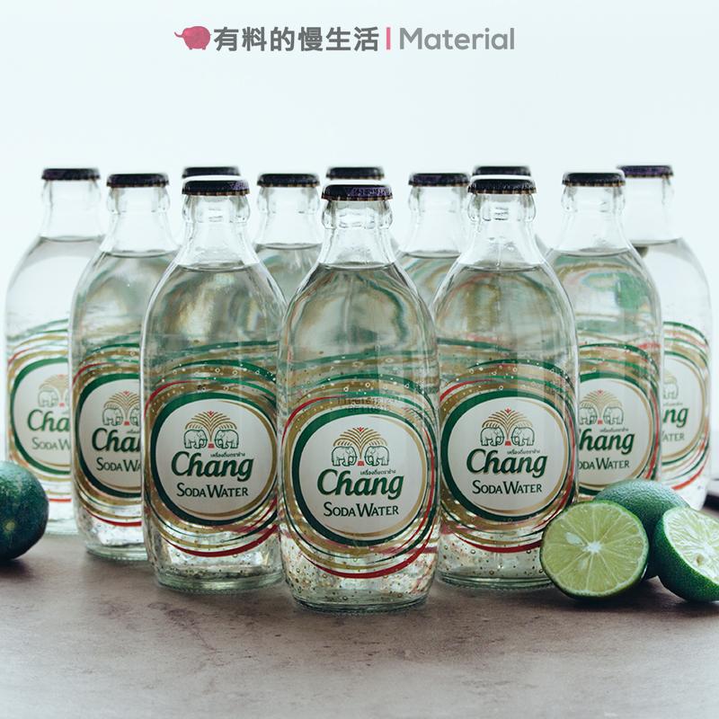 泰国进口整箱象牌苏打水大象牌气泡水chang无糖矿泉水玻璃瓶325ml限5000张券