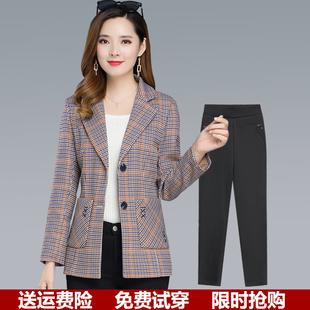 妈妈春秋外套短款2021新款洋气小西装上衣40岁中老年女装秋装风衣