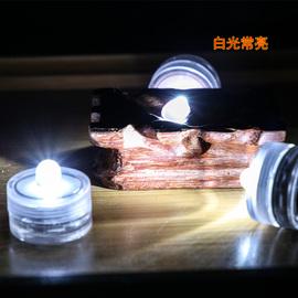 防水LED手工迷你小七彩灯电池灯泡运输喂鸟食纽扣鱼缸灯南瓜DIY