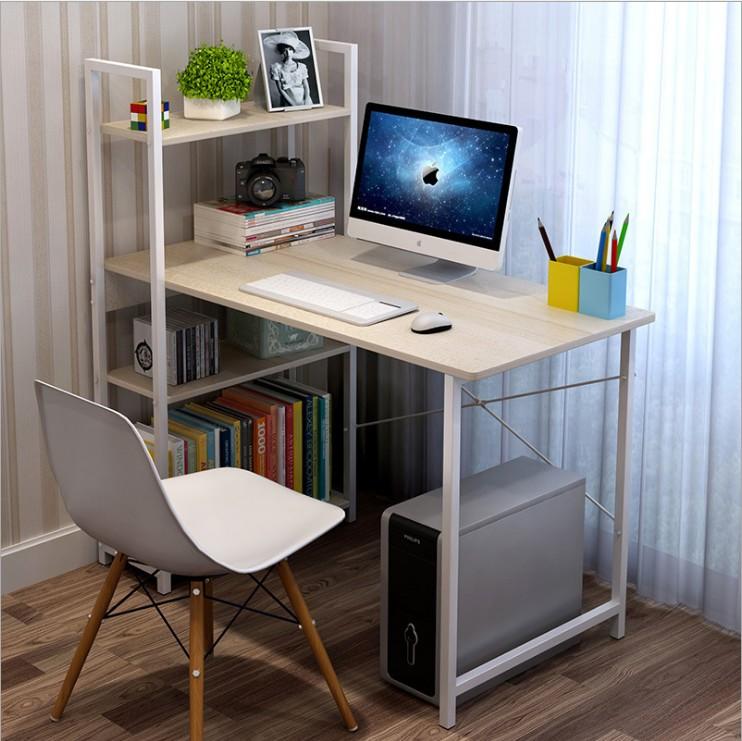 简易1米书桌书架组合电脑桌家用简约省空间经济型学生写字台式桌