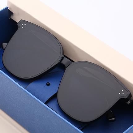 新款gm墨镜网红复古太阳眼镜女士开车大框潮超流行韩版方形眼镜男热销538件限时2件3折