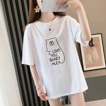 超大码夏装胖mm加大码女装宽松显瘦欧美长版T恤蝙蝠短袖胸围150