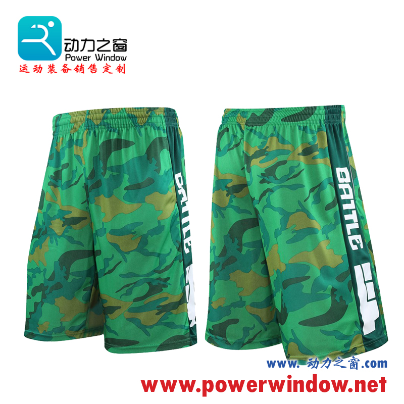 Camouflage basketball pants, middle pants, sports shorts, mens breathable running fitness pants, loose large Capris, casual shorts