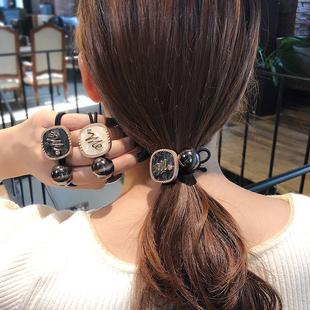 韓版時尚橡皮筋簡約扎頭繩氣質成年女韓國東大門發繩髮圈馬尾髮飾
