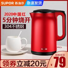 スー電気家庭オープンボトルの断熱ステンレス鋼ポータブルやかん大容量のお茶自動電源