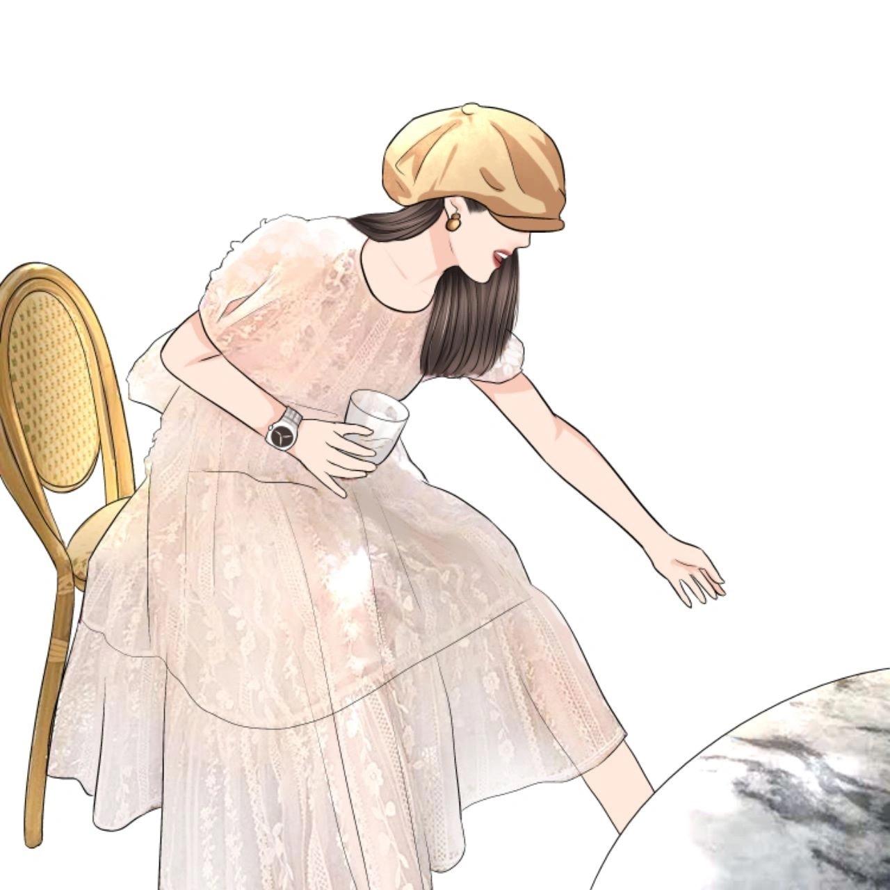 卢洁云 CARIEDO「诺曼底花园」本期主打夏日浆果拼轻透蕾丝连衣裙