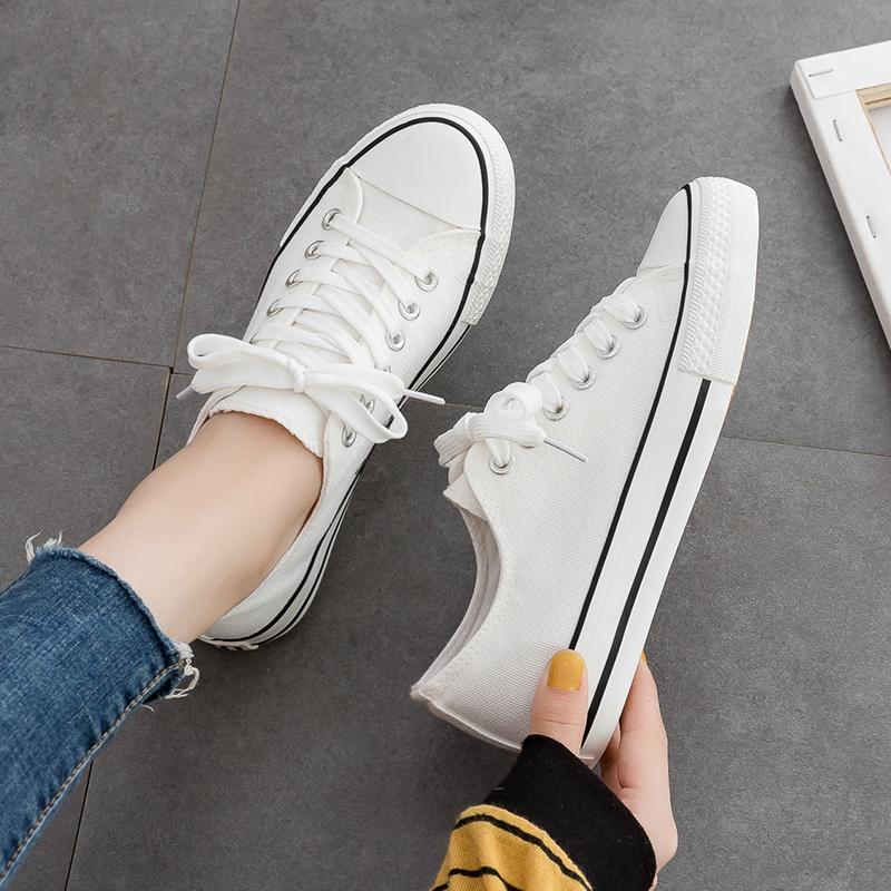 平底新款小白鞋帆布鞋女2020板鞋ulzzang韩版百搭低帮夏季布鞋子