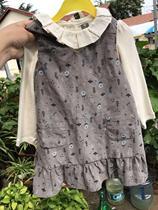 90-120码 韩国潮牌童装20春冬女童长袖T恤 背心裙连衣裙两件套装