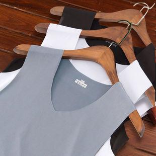 2件装夏季男士男短袖无痕马甲t恤