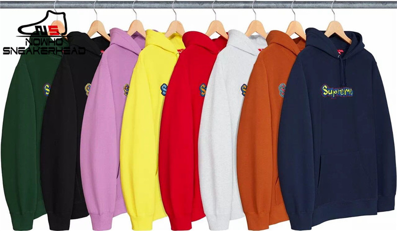 NOWHO Supreme Gonz Logo Hooded Sweatshirt 小Logo刺绣帽衫卫衣