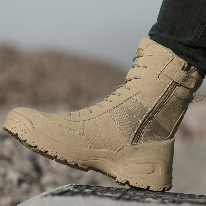 盾郎冬季新式作战靴男军靴特种兵鞋沙漠战术靴超轻户外高帮登山鞋