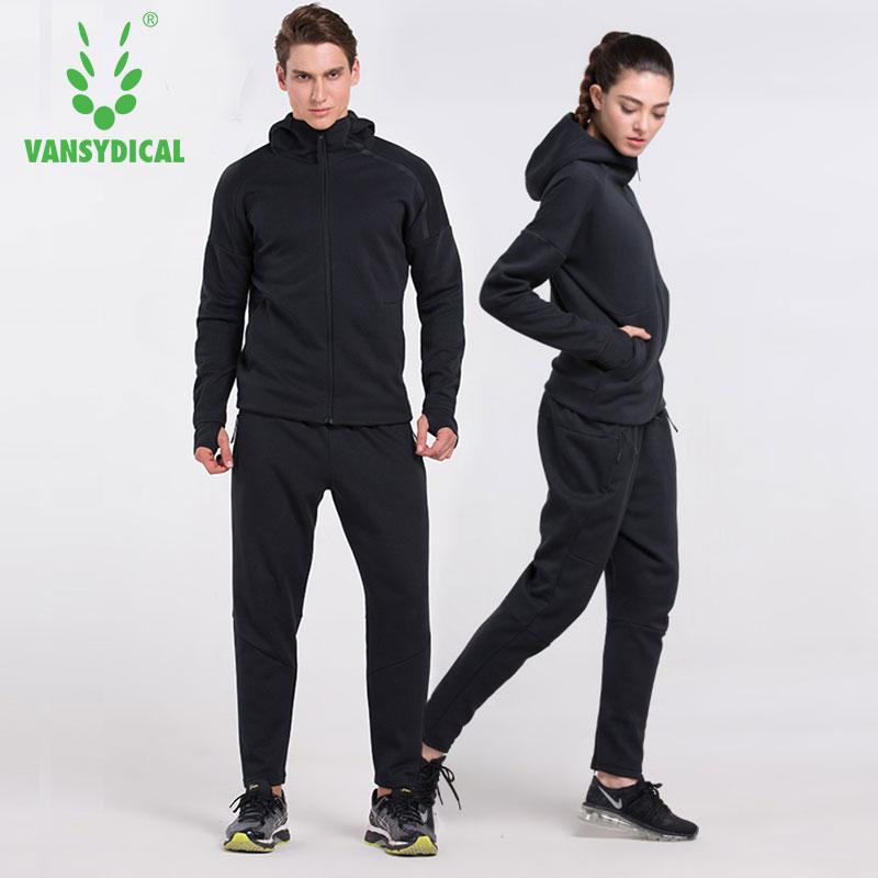 运动型格套装男女纯棉跑步健身运动服运动衣情侣休闲卫衣两件套