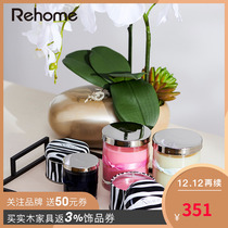US-American Home rehome France imports aromatherapy French high romantic rose fragrance Candles (recommended)