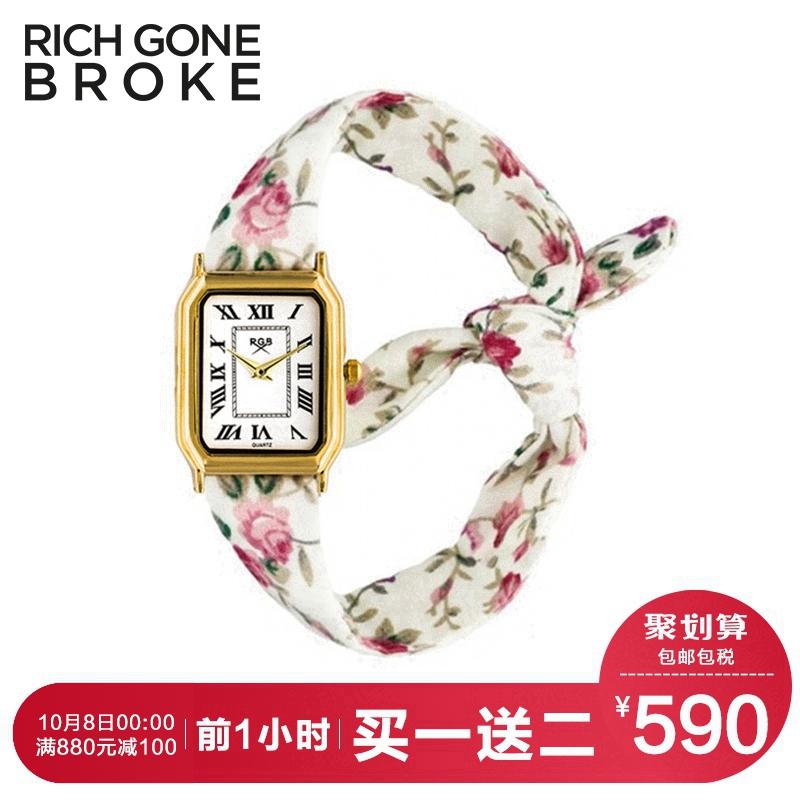 RICHGONEBROKE玛丽王后的花园秋天时尚女表RGB方盘网红DW抖音手表正品保证