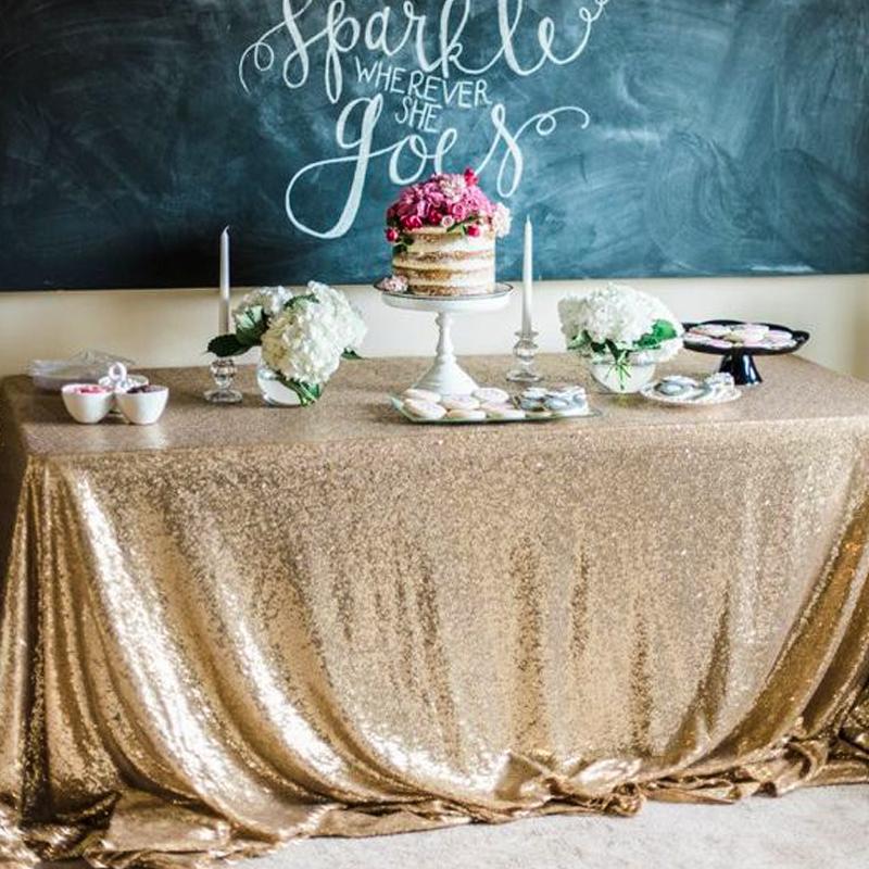 婚庆婚礼摆台亮片桌布签到台甜品台装饰桌布酒店生日派对布置桌围热销58件五折促销