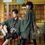 卿棠原创-麒麟乘风-国风复古汉元素刺绣印花夏季罩衫男女情侣款