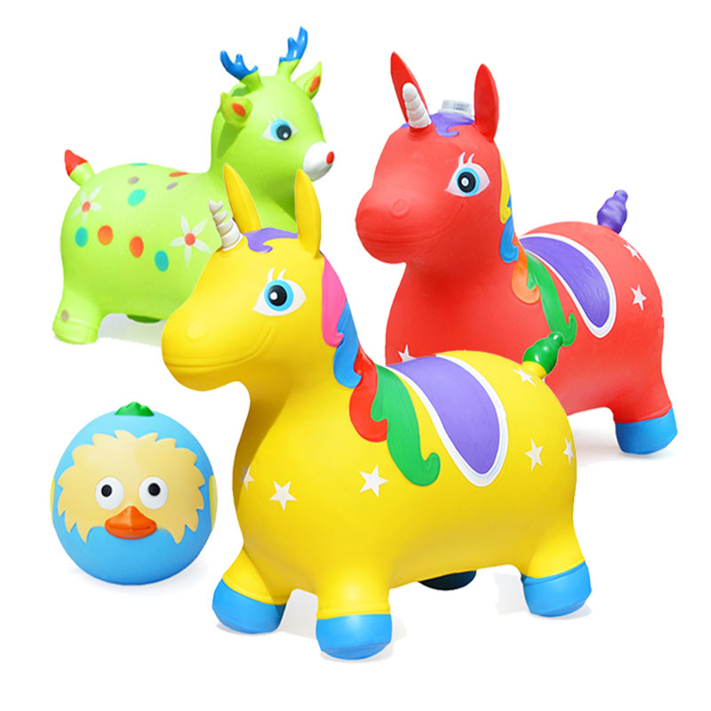 Children's inflatable toy jumping horse outdoor thickening horse riding Pony Baby jumping horse large