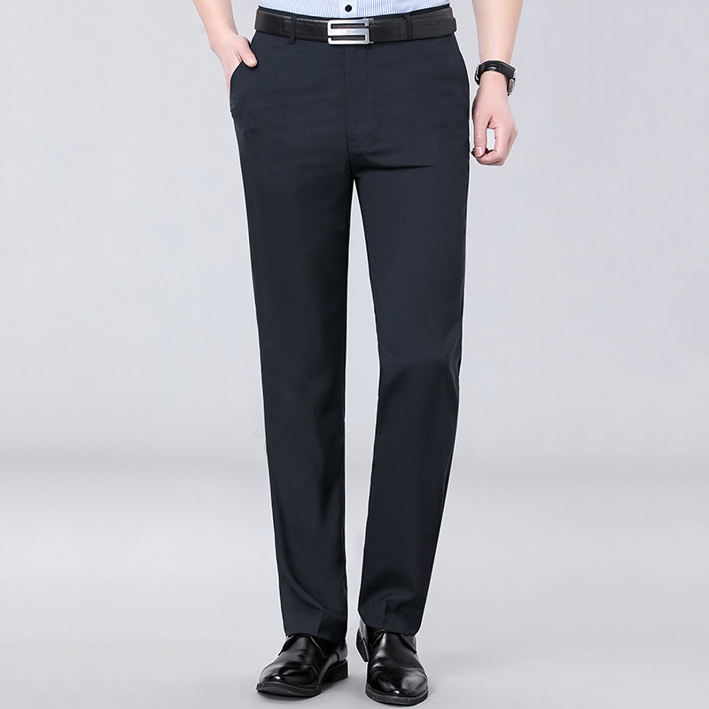 Counter brand mens wool trousers summer mens business dress mulberry silk non ironing thick high-grade trousers