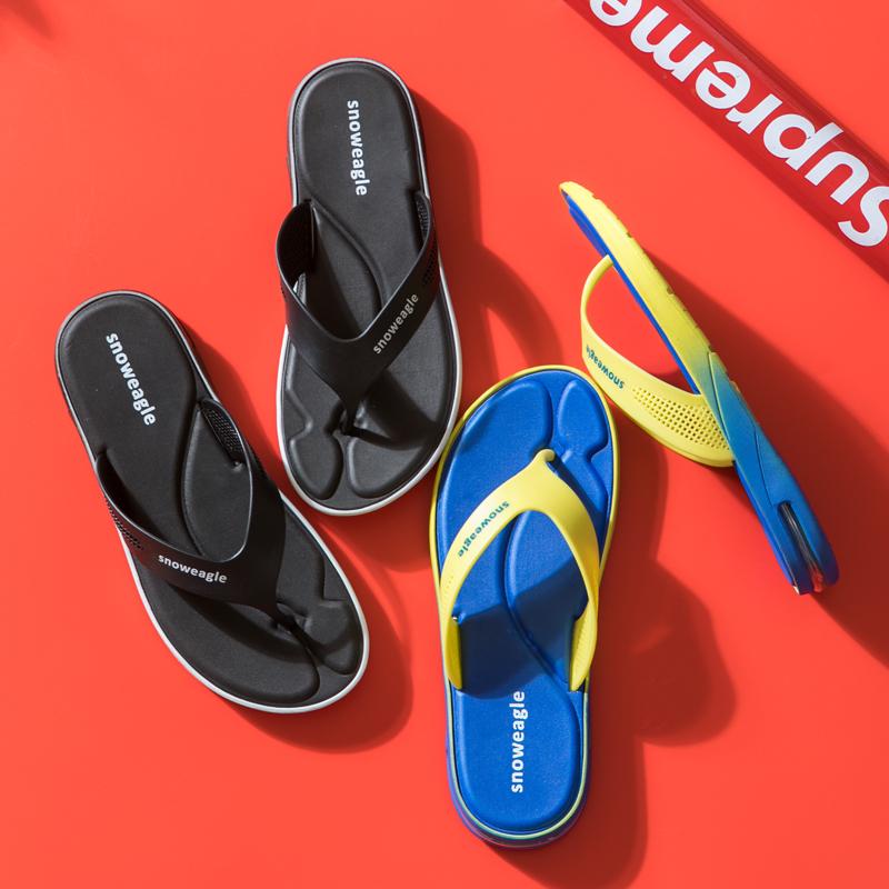 人字拖男潮外穿个性潮流韩版室外沙滩夹脚厚底防滑气垫运动拖鞋夏