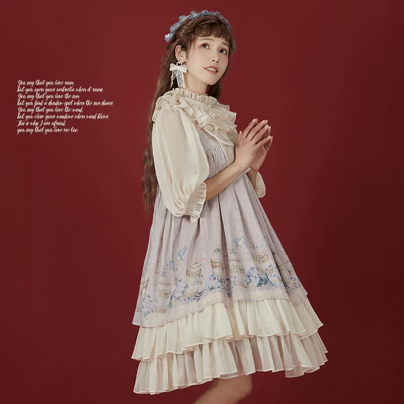现货掉落仲夏物语鸟之诗日常裙子热销43件正品保证