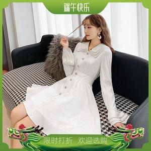 法式桔梗裙子2020春装新款维多利亚时尚百搭洋气减龄俏皮连衣裙女