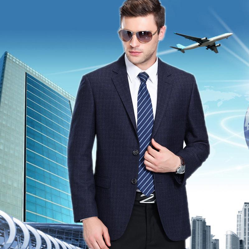 New mens suit autumn and winter 2020 fashion business boutique Wool Plaid single suit coat