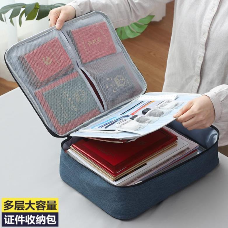 Classification box household documents and documents storage bag portable multi-layer. Storage box simple multi card card clip
