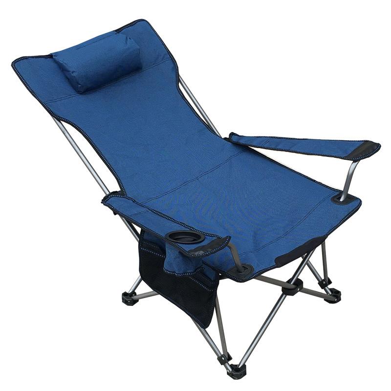 户外休闲折叠椅躺椅便携式午睡午休床椅野外露营靠背折叠钓鱼椅子