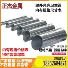 304 316不锈钢管 卫生管精密管 内外抛光管 食品级管 里外光亮管