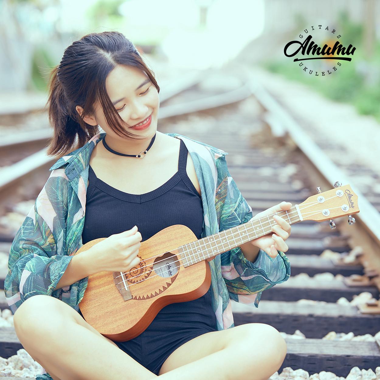 219.50元包邮amumu23寸初学者少女儿童小吉他