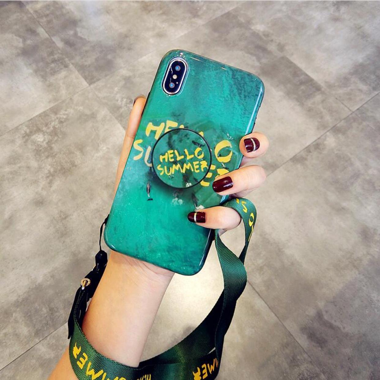 抖音气囊支架祖母绿nova3e/2splus荣耀7xV9/mate10/p20pro手机壳