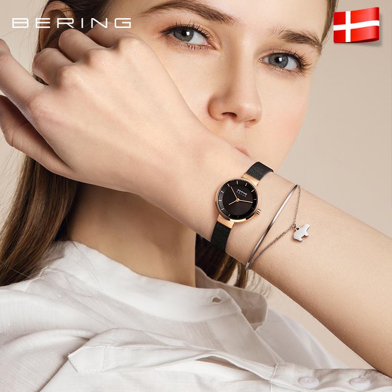 【太阳能机芯】Bering白令手表女士 小众轻奢简约气质小表盘女表