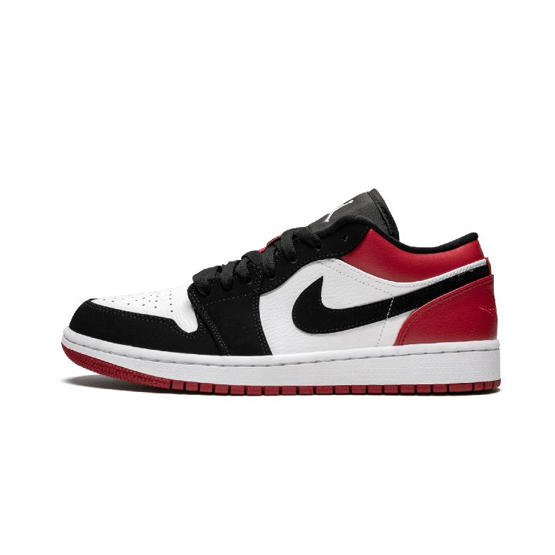 Air Jordan 1 Low Black Toe aj1男鞋 黑脚趾 篮球鞋- 553558 116