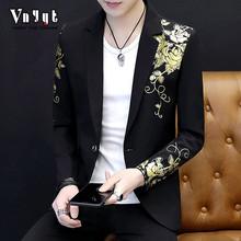 男士韩版修身西服男春秋季上衣服个性小西装男装休闲西装个性外套
