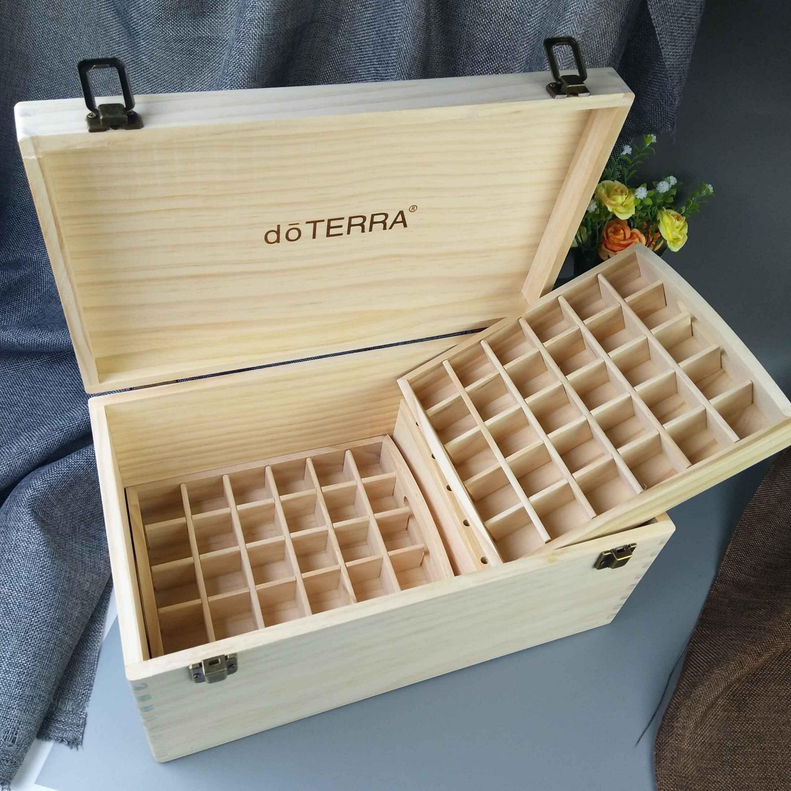 Dott швейцарский масло ящик 66 решетки хранения деревянный можно поставить кокос масло 5ml 15ml масло чистый сосна