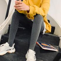 V6秋冬高腰小脚显瘦黑色打底外穿小黑裤加绒2019sp68魔术裤女韩国