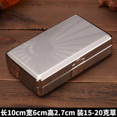 烟丝盒便携烟斗烟盒金属烟丝盒旱烟盒不锈钢盒子