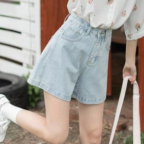 茉语家牛仔2020年夏季高腰宽松短裤