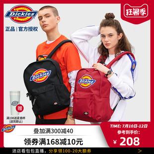 Dickies潮牌经典彩色LOGO大容量双肩包女百搭男背包书包C028品牌