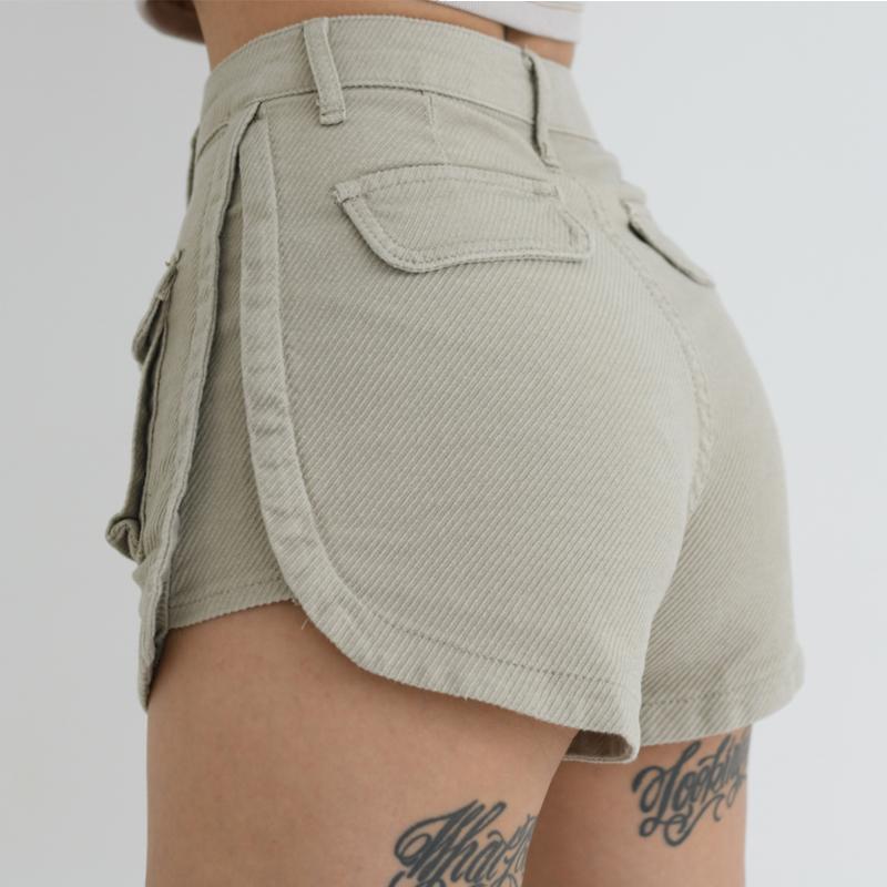 ABouthexx2020夏欧美性感高腰包包两边短包臀显腿长辣妹风短裤